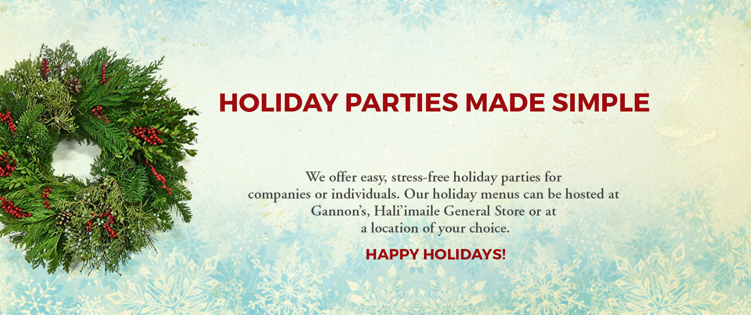 Plan A Holiday Party Gannons Restaurant